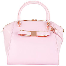 Buy Ted Baker Aveline Leather Tote Bag, Dusky Pink Online at johnlewis.com