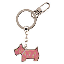 Buy Radley Moon Dots Keyring, Pink Online at johnlewis.com