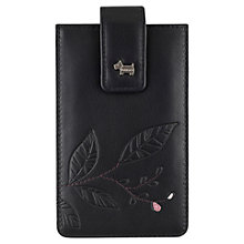 Buy Radley Large Laurels Leather Iphone Case, Black Online at johnlewis.com