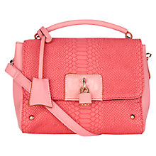Buy Oasis Tamsin Colour Block Top Handle Bag, Pale Pink Online at johnlewis.com