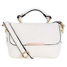 Buy Oasis Sara Minimal Metal Satchel Bag Online at johnlewis.com
