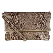 Buy Oasis Celeste Foldover Clutch Bag, Natural Online at johnlewis.com
