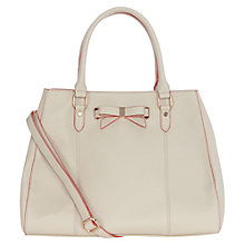Buy Oasis Betty Bow Tote Bag, Stone Online at johnlewis.com