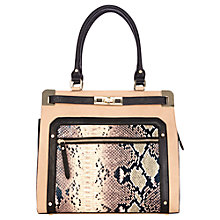 Buy Oasis Tallulah Metal Corner Tote Bag, Natural Online at johnlewis.com