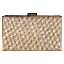 Buy Oasis Chloe Hardcase Clutch Bag, Gold Online at johnlewis.com