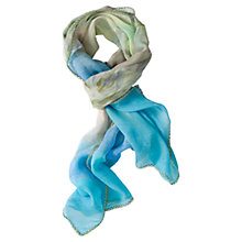 Buy Chesca Blue Printed Silk Scarf, Multi Online at johnlewis.com