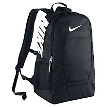 Buy Nike Team Training Backpack, M, Black/White Online at johnlewis.com