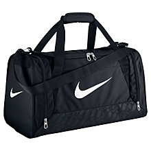Buy Nike Brasilia 6 Duffel Bag, Small, Black Online at johnlewis.com