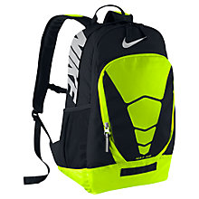 Buy Nike Vapor Backpack, Black/Volt Online at johnlewis.com