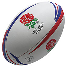 Buy Gilbert Official England Replica Rugby Ball, White/Red/Blue Online at johnlewis.com