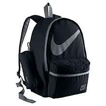 Buy Nike Half-Day Back to School Backpack, Black/Cool Grey Online at johnlewis.com