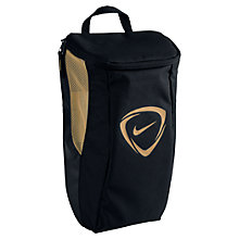 Buy Nike Football 2.0 Shoe Bag, Black/Metallic Gold Online at johnlewis.com