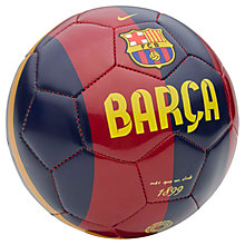 Buy Nike FC Barcelona Skills Football, Size 1, Red/Navy Online at johnlewis.com