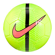 Buy Nike Technique Football, Size 5, Black/Volt Online at johnlewis.com