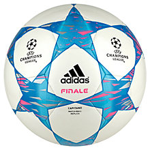 Buy Adidas Finale 14 Capitano Football, Size 5, White/Pink Online at johnlewis.com