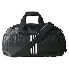 Buy Adidas 3-Stripes Performance Small Team Bag, Black/White Online at johnlewis.com
