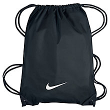 Buy Nike Fundamentals Swoosh Drawstring Bag, Black Online at johnlewis.com