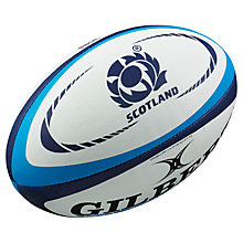 Buy Gilbert Official Scotland Replica Rugby Ball, White/Blue, Size 5 Online at johnlewis.com