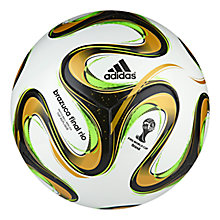 Buy Adidas World Cup Final 2014 Football, White/Black Online at johnlewis.com