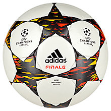 Buy Adidas Finale Mini Football, Size 1, White/Black Online at johnlewis.com