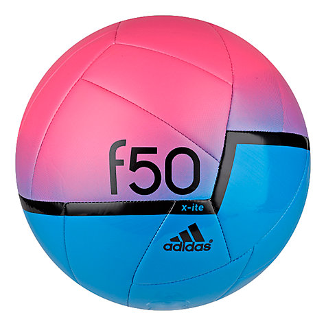 Buy Adidas f50 X-ite Football, Size 5, Blue/Pink Online at johnlewis.com
