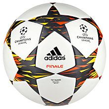Buy Adidas Champions League Finale 14 Training Football, Size 5, White/Blue Online at johnlewis.com