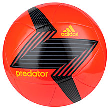 Buy Adidas Predator Glider Football, Size 5, Solar Red Online at johnlewis.com