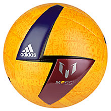 Buy Adidas F50 Messi Mini-Ball, Size 5, Yellow/Red/Blue Online at johnlewis.com