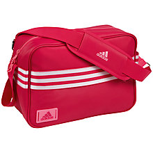 Buy Adidas Enamel Messenger Bag, Pink Online at johnlewis.com