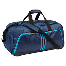 Buy Adidas 3-Stripes Performance Medium Team Bag, Rich Blue Online at johnlewis.com