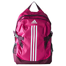 Buy Adidas Power II Backpack, Pink/Purple Online at johnlewis.com