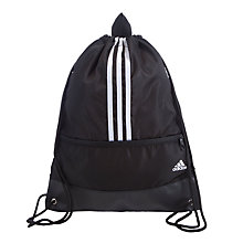 Buy Adidas Three Stripe Performance Gym Bag, Black/White Online at johnlewis.com