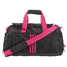 Buy Adidas Team Bag Holdall, Black/Pink Online at johnlewis.com