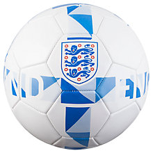 Buy Official England Three Lions Crest Football, White/Blue Online at johnlewis.com