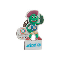 Buy Glasgow 2014 Commonwealth Games Mascot UNICEF Lapel Pin Online at johnlewis.com