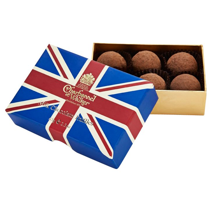 Charbonnel et Walker Charbonnel et Walker Union Jack Cocoa Dusted Milk Truffles, 65g