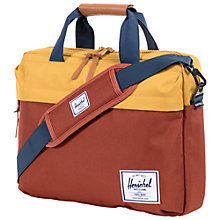Buy Herschel Clark Messenger Laptop Bag, Rust/Copper Online at johnlewis.com