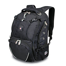 "Buy Wenger 17"" Laptop/Tablet Backpack, Black Online at johnlewis.com"