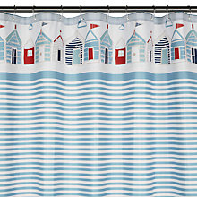 Buy John Lewis Coastal Beach Huts Shower Curtain Online at johnlewis.com
