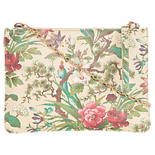 Buy Oasis Stephanie Tropical Forest Across Body Bag, Multi/White Online at johnlewis.com