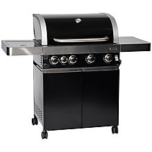 Buy Leisuregrow Grillstream JL4SB Hooded 4-Burner Gas Barbecue, Black Online at johnlewis.com