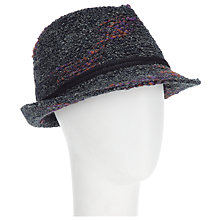 Buy John Lewis Fleck Trilby, Charcoal Online at johnlewis.com