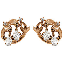 Buy Susan Caplan Vintage 1950s Swarovski Crystal Drop Swirl Clip-On Earrings Online at johnlewis.com