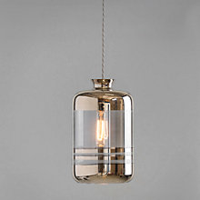 Buy Ebb & Flow Striped Pillar Pendant, Smoke/Platinum Online at johnlewis.com