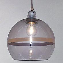 Buy Ebb & Flow Striped Rowan Pendant, Smoke/Platinum Online at johnlewis.com