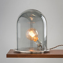 Buy Ebb & Flow Glow in Dome Table Lamp, Smoke/ Steel Online at johnlewis.com