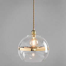 Buy Ebb & Flow Striped Rowan Pendant, Clear/Gold Online at johnlewis.com