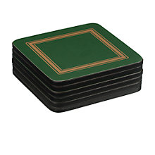 Buy John Lewis Classic Green Coasters, Set of 6 Online at johnlewis.com