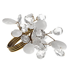 Buy John Lewis Croft Collection Beaded Napkin Ring, White Online at johnlewis.com
