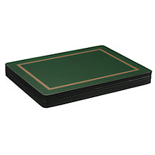 Buy John Lewis Classic Green Placemats, Set of 6 Online at johnlewis.com